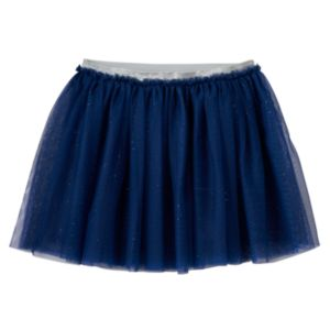Girls Plus Size SO® Glitter Mesh Skirt