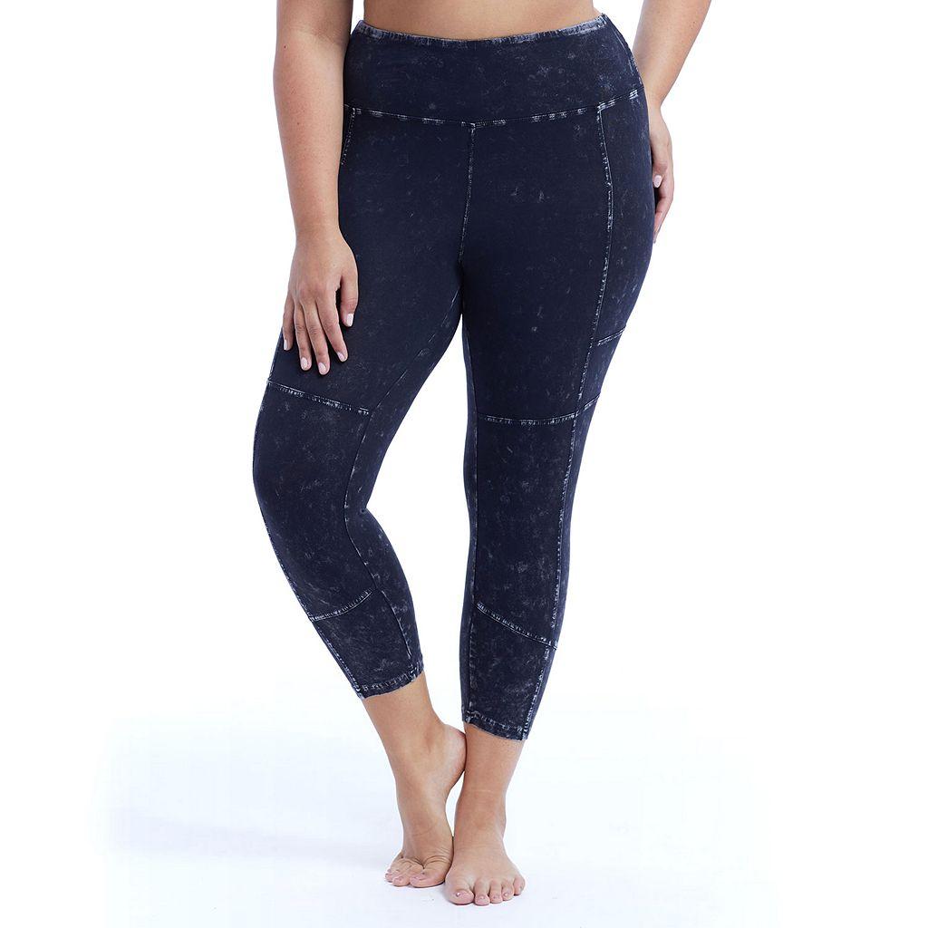 Plus Size Marika Morgan Moto Workout Leggings