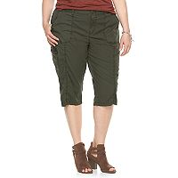 Plus Size SONOMA Goods for Life™ Cargo Skimmer Capris