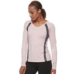 Women's FILA SPORT® Basic V-Neck Long Sleeve Tee
