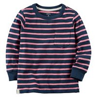 Boys 4-8 Carter's Long Sleeve Striped Pocket Tee