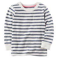 Boys 4-8 Carter's Long Sleeve Striped Pocket Tee