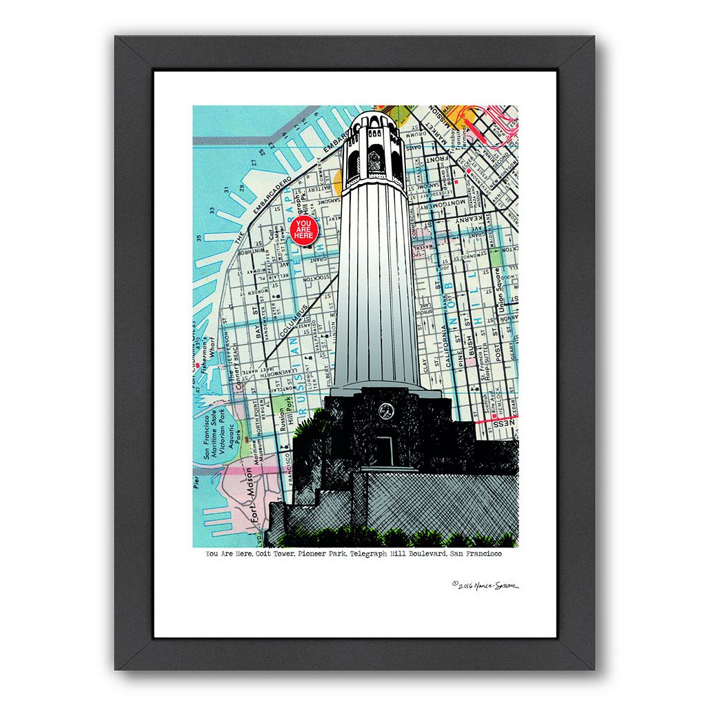 Americanflat Colt Tower San Francisco Framed Wall Art
