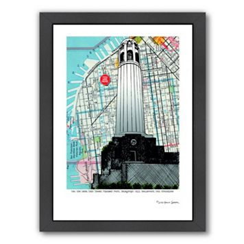 Americanflat Colt Tower San Francisco Framed Wall Art