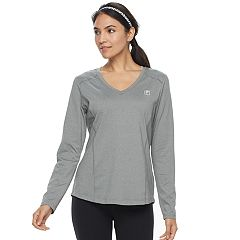 Women's FILA SPORT® Essential V-Neck Long Sleeve Tee