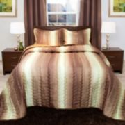 Portsmouth Home Striped Metallic Comforter Set
