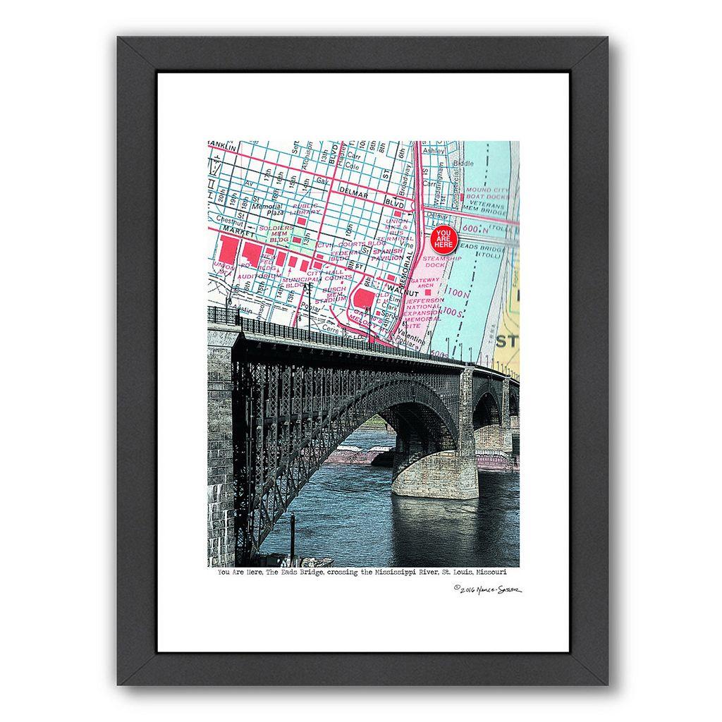 Americanflat Eads Bridge Framed Wall Art