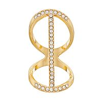 Jennifer Lopez Vertical Bar Double Ring