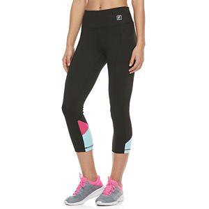 Women's FILA SPORT® Color Block Inset Capri Leggings