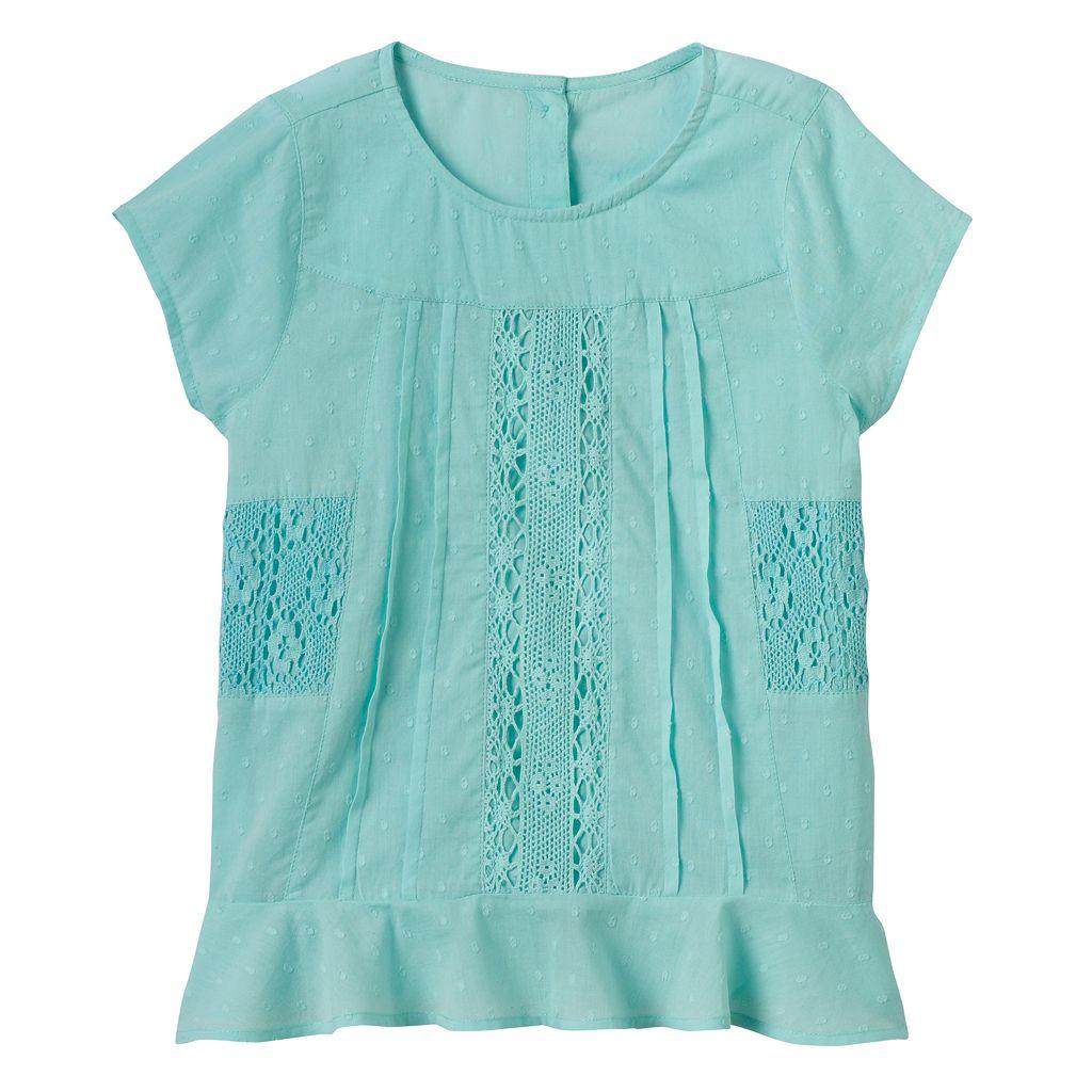 Girls 4-12 SONOMA Goods for Life™ Crochet Paneled Top
