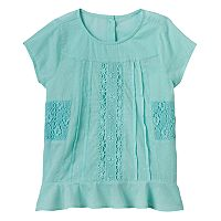Girls 4-12 SONOMA Goods for Life™ Crochet Paneled Top