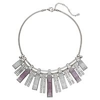 Jennifer Lopez Graduated Geometric Bar Statement Necklace