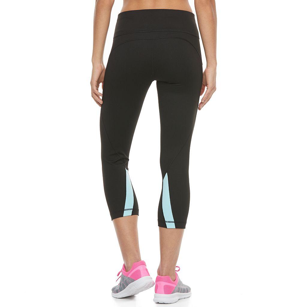 Women's FILA SPORT® Contrast Hem Capri Leggings