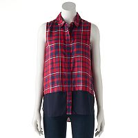 Women's Rock & Republic® Plaid Sleeveless Shirt