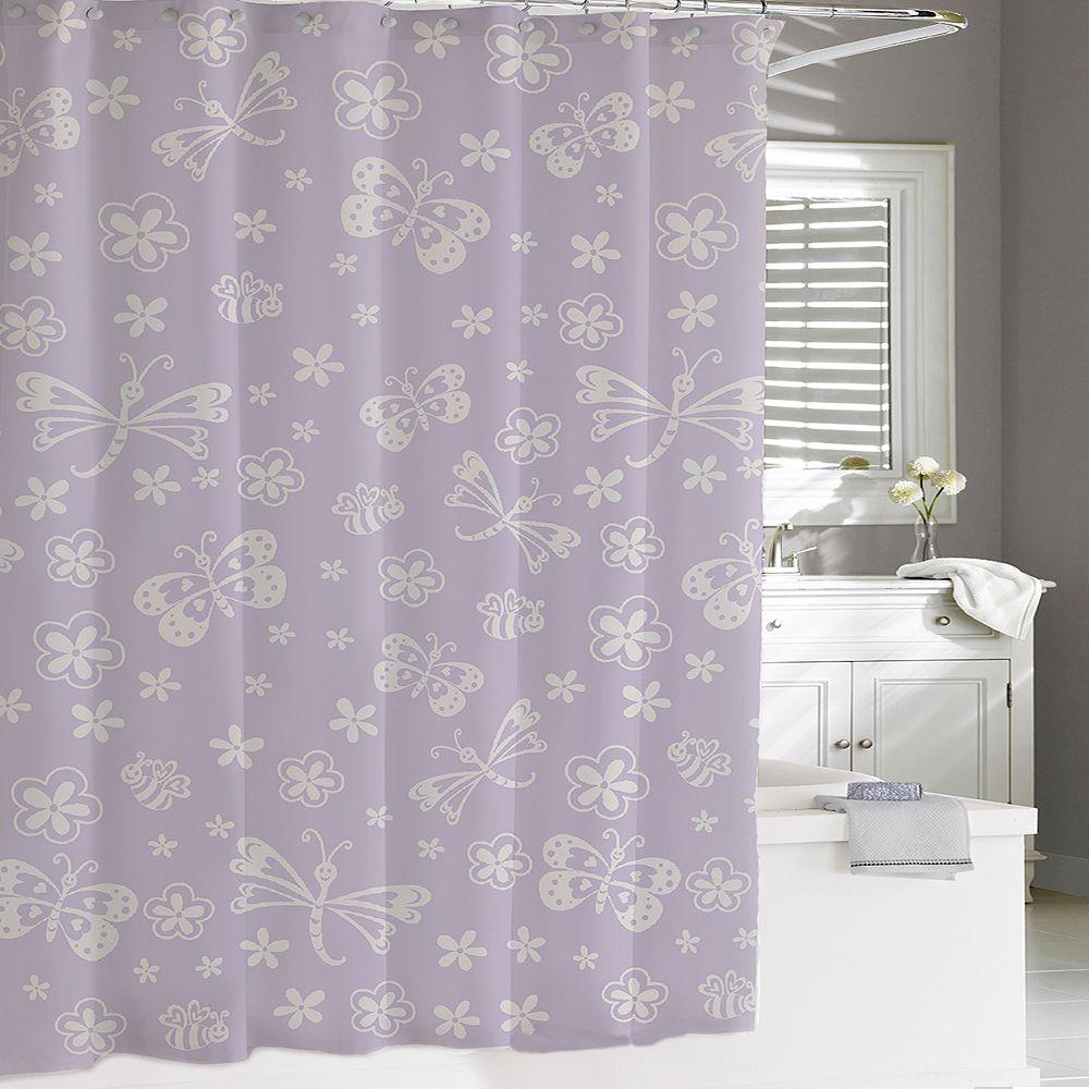 Cassadecor Kids Mariposa Shower Curtain