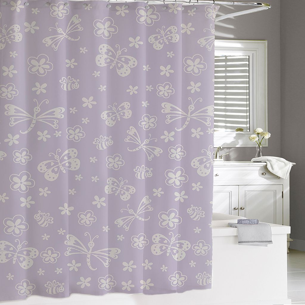Kassatex Kassa Kids Butterfly Shower Curtain