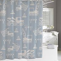 Kassatex Kassa Kids Construction Shower Curtain