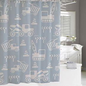 Cassadecor Kids Builders Shower Curtain