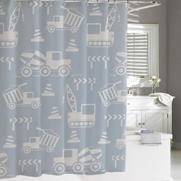Kassatex Kassa Kids Construction Shower Curtain