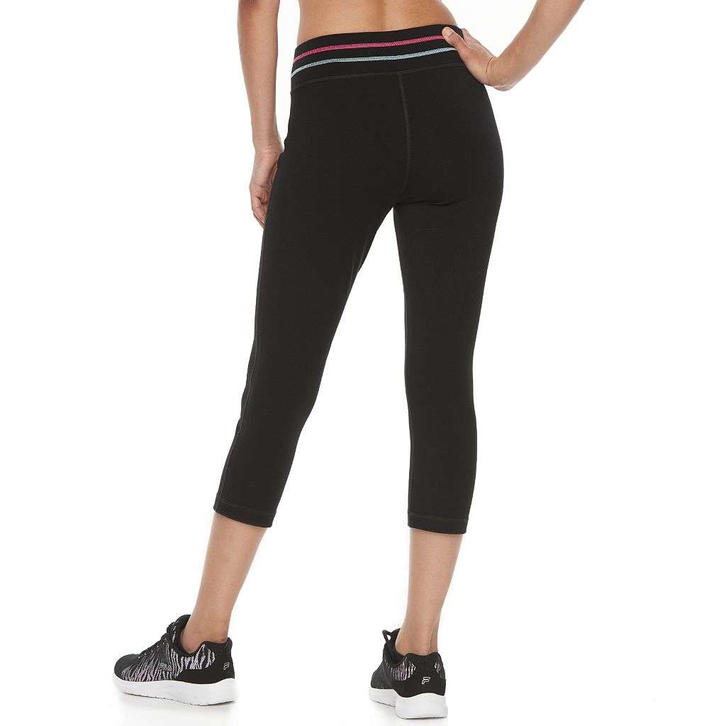 Women's FILA SPORT® Contrast Stitch Capri Leggings