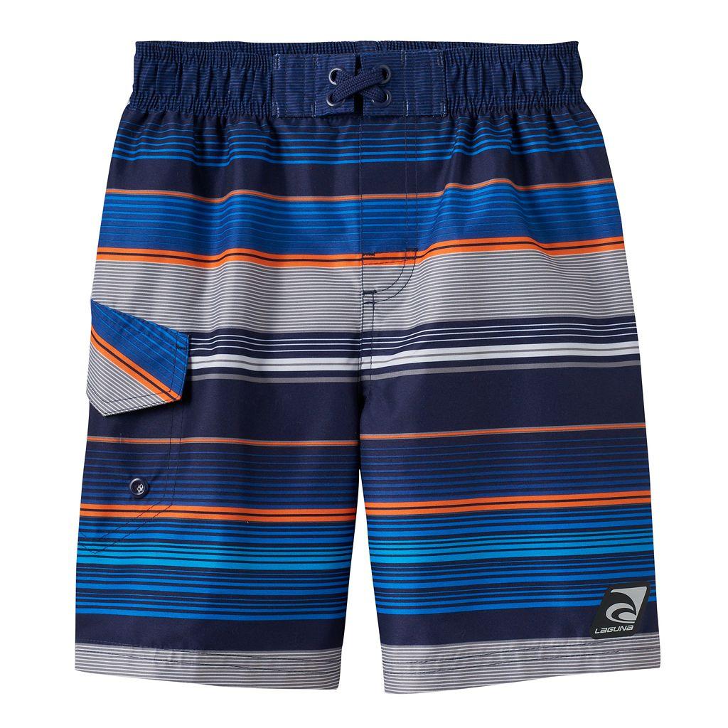 Boys 4-7 Laguna Swim Blue Stripe Swim Trunks