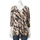 Women's Dana Buchman Printed Drop-Shoulder Poncho