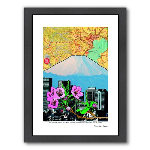 Americanflat Fuji-Cherry & Downtown Framed Wall Art