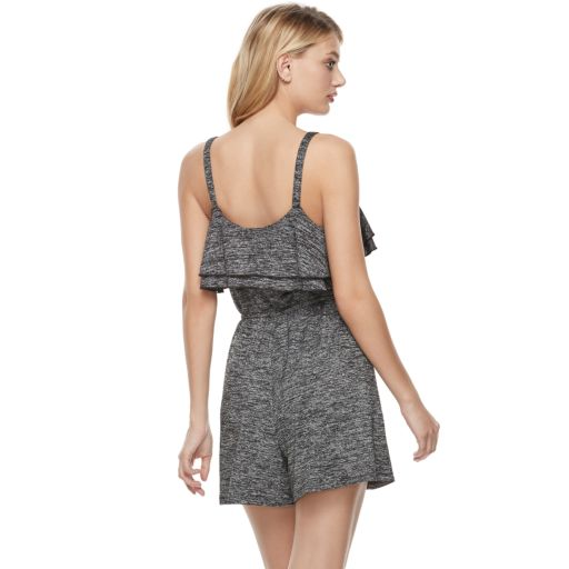 Women's Juicy Couture Marled Ruffle Romper