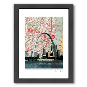 Americanflat Gateway Arch Framed Wall Art
