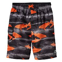 Boys 4-7 Laguna Swim Shark Print Swim Trunks