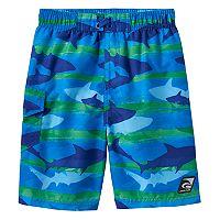 Boys 4-7 Laguna Swim Shark Print Swim Trunks