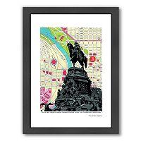 Americanflat George Washington Monument Philadelphia Framed Wall Art