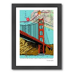 Americanflat Golden Gate Bridge San Francisco Framed Wall Art