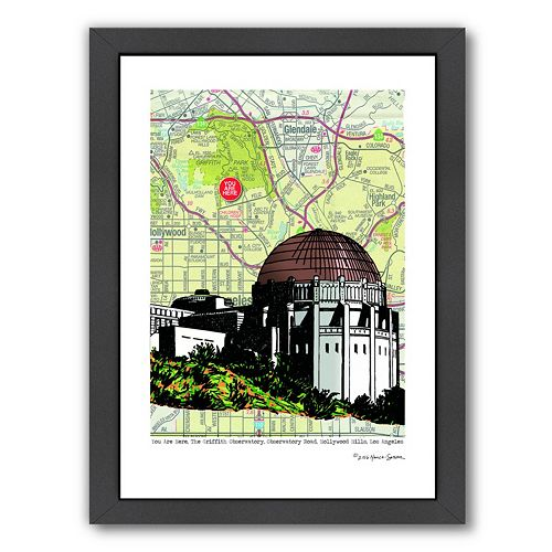 Americanflat Griffith Observatory Framed Wall Art