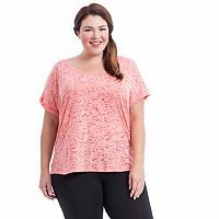 Plus Size Balance Collection Kimmy Keyhole Yoga Tee