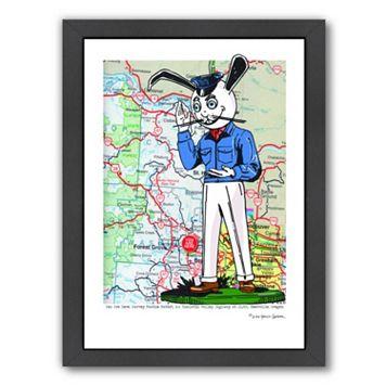 Americanflat Harvey Rabbit Reedville, Oregon Framed Wall Art