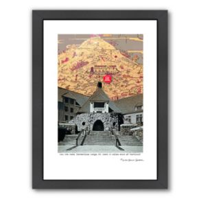 Americanflat Historic Timberline Lodge Oregon Framed Wall Art