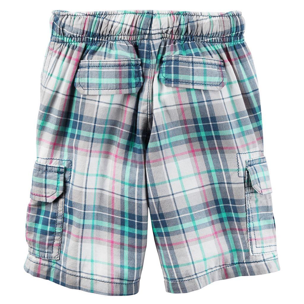Toddler Boy Carter's Midtier Plaid Cargo Shorts