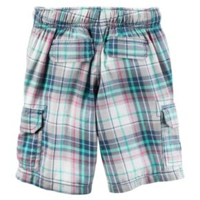 Toddler Boy Carter's Midtier Plaid Cargo Shorts