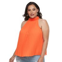 Plus Size Jennifer Lopez Pleated Halter Top