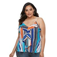 Plus Size Jennifer Lopez Smocked Off-the-Shoulder Top