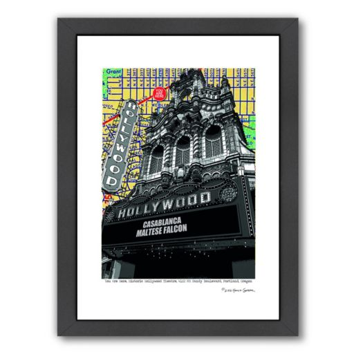 "Americanflat ""Hollywood"" Theatre Portland Framed Wall Art"