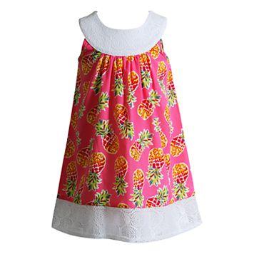 Toddler Girl Youngland Pineapple Crocheted Sundress