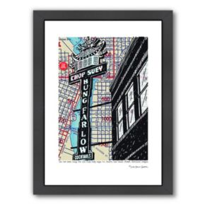 "Americanflat ""Hung Far Low"" Portland Framed Wall Art"