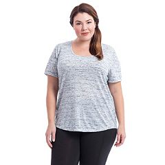 Plus Size Balance Plus Flared Scoop Neck Tee