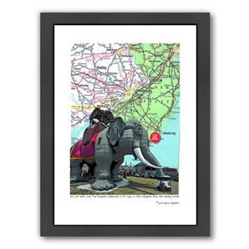Americanflat Jersey Shore Lucy Elephant Margate Framed Wall Art