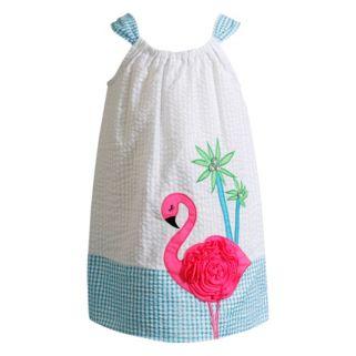 Toddler Girl Youngland Flamingo Seersucker Dress