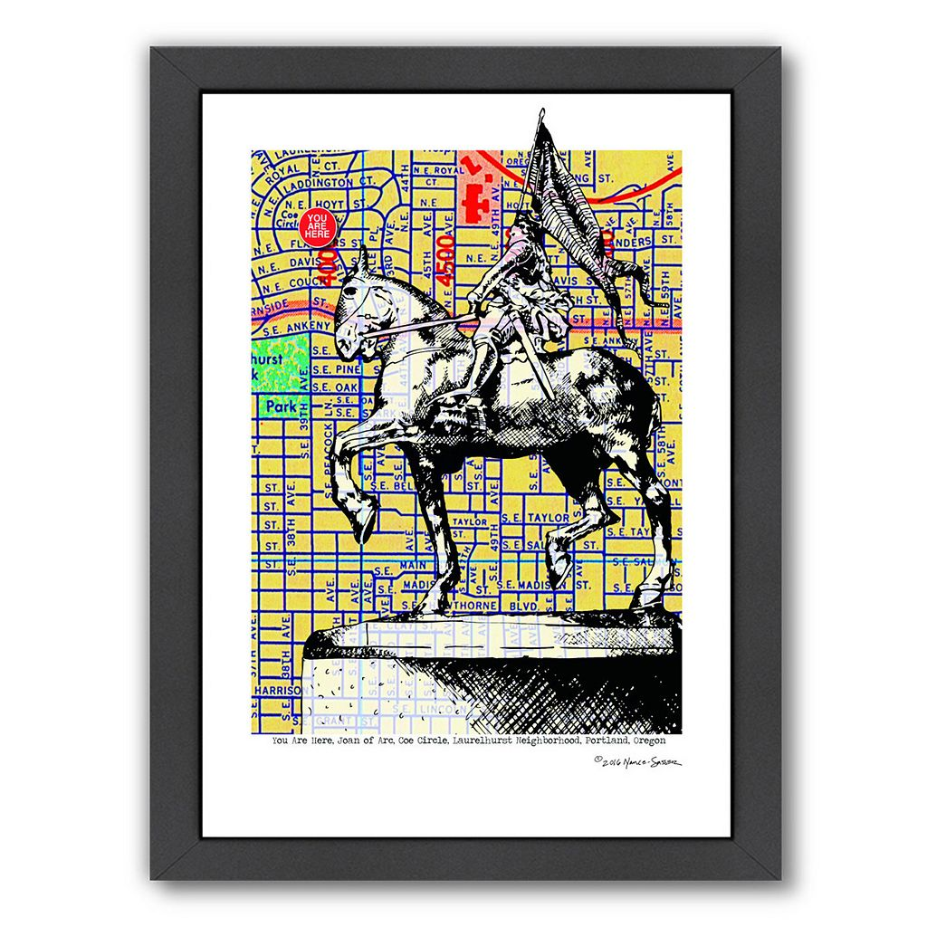 Americanflat Joan Of Arc Portland Framed Wall Art