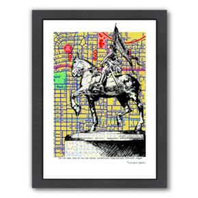 Americanflat Joan Of Arc Portland Framed Wall Art