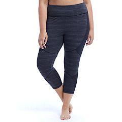Plus Size Marika Geneva Shape Enhancing Capri Leggings